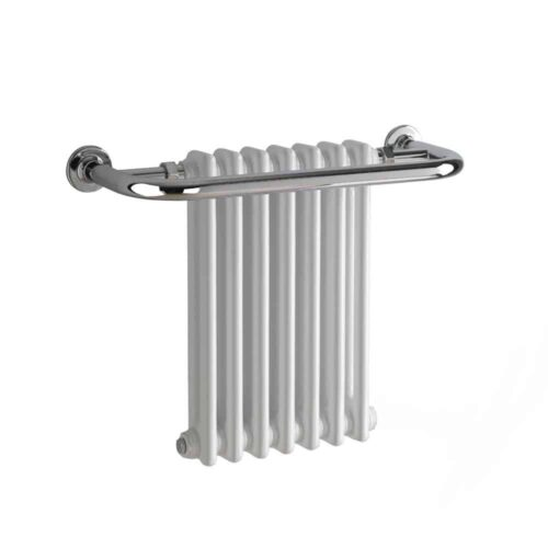 PARLIAMENT Traditional Victorian Heated Towel Rail & Column Radiator, White - Central Heating