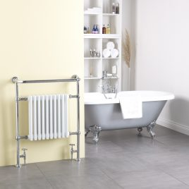 Traditional Victorian Central Heating Bathroom Radiator With Towel Rail The Ramsey
