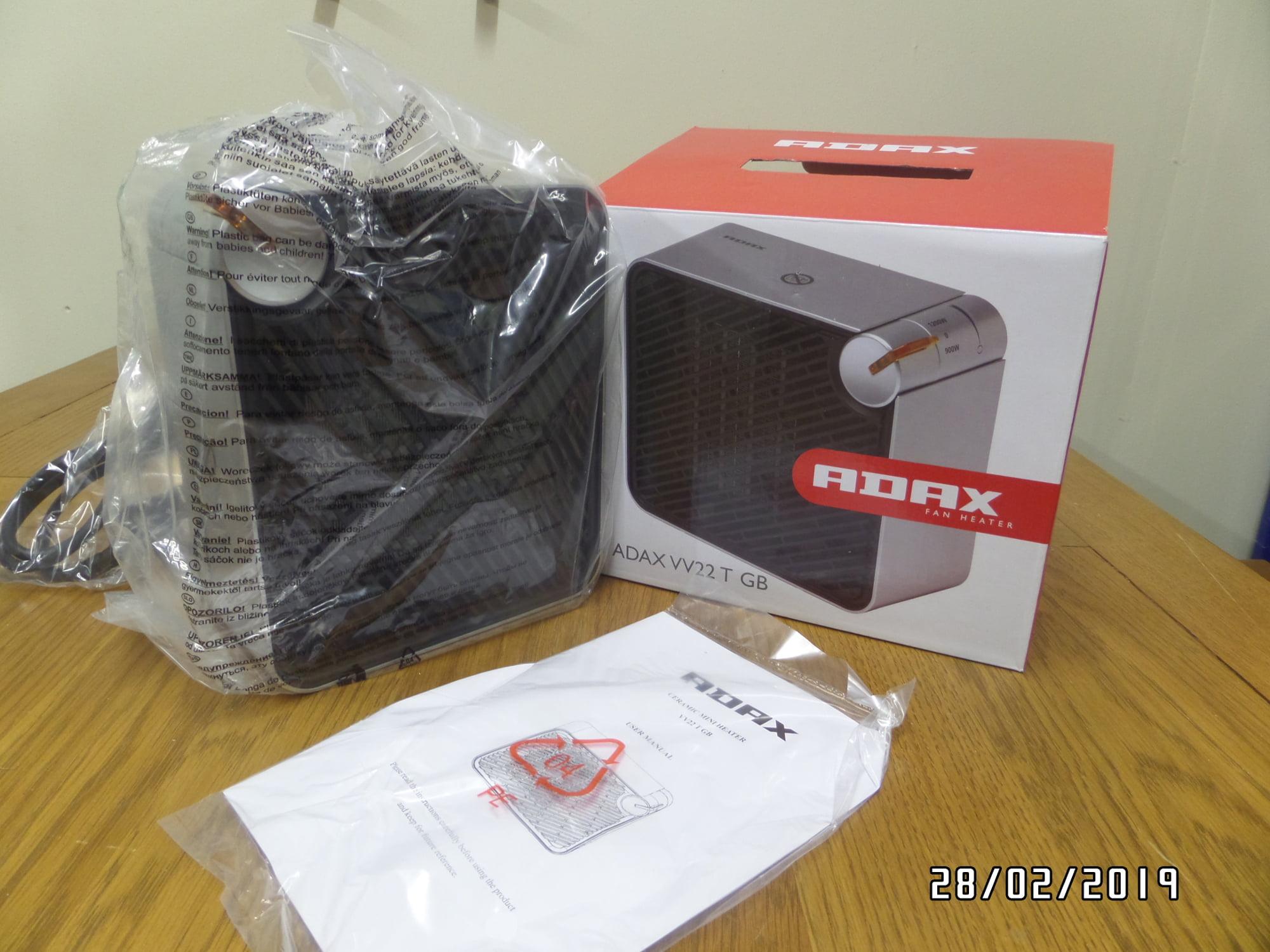 ADAX VV22 Portable Electric Fan Heater