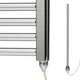 Electric Ptc Heating Element For Towel Rail Radiator Conversion White & Chrome