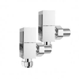 Angled Square Valves For Central Heating And Dual Fuel Towel Rail Radiator
