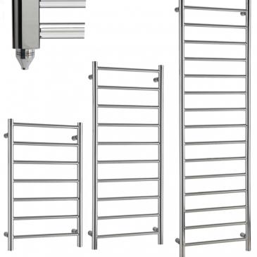 ALPINE Chrome Modern Towel Warmer / Heated Towel Rail Radiator – Electric