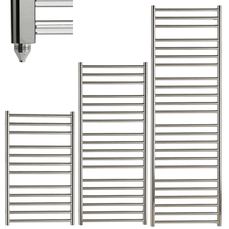 BRADDAN Stainless Steel Modern Towel Warmer / Heated Towel Rail – Electric