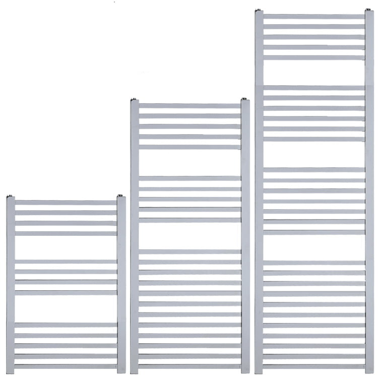 LAUREL Square Tube Modern Heated Towel Rail / Warmer, Chrome – Central Heating
