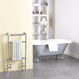 Traditional Victorian Radiator With Heated Towel Rail Dual Fuel Electric The Ramsey