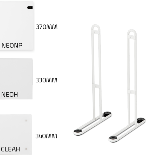 Leg Brackets For Adax NEO (NP) , CLEA (CP), WiFi (NEOH), ECO, VP10 - Portable, Floor Mounting