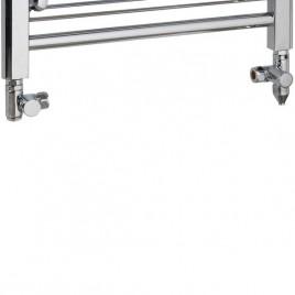 Dual Fuel Towel Rail Kit A Ptc Heating Element Chrome Round Valves