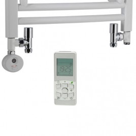 Dual Fuel Towel Rail Kit D Thermostatic Heating Element Round Valves