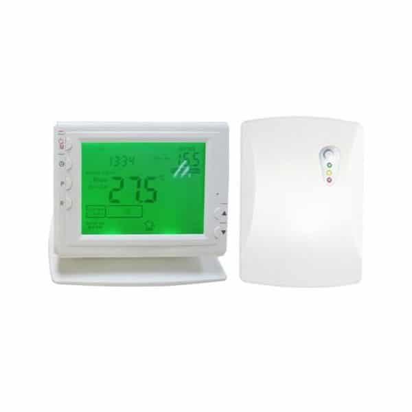 PR-1 Wireless Remote 2PR1 Wireless Digital Timer 24/7 & Thermostat for Electric Heating Appliances, Heated Towel Rails, Designer Radiators, Combi Boilers