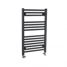 Straight Black / Anthracite 500 x 1500mm Dual Fuel Electric PTC Towel Rail 1