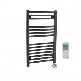 Anthracite Electric Towel Rails – The Bray – Straight – Remote Control – Thermostatic