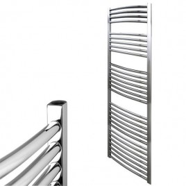 Curved Chrome Central Heating Towel Rails - The Bray