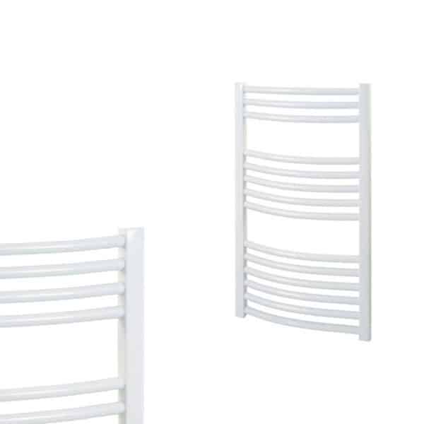 Curved White Central Heating Towel Rails – The Bray