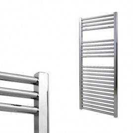 Straight Chrome Central Heating Towel Rails