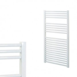 Straight White Central Heating Towel Rails – The Bray