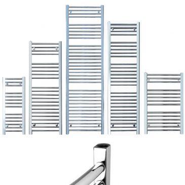 BRAY Straight Towel Warmer / Heated Towel Rail Radiator, Chrome – Central Heating