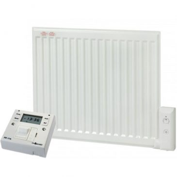 ADAX APO Oil-Filled Electric Radiator / Radiant Wall Mounted Heater + Fused Spur Timer