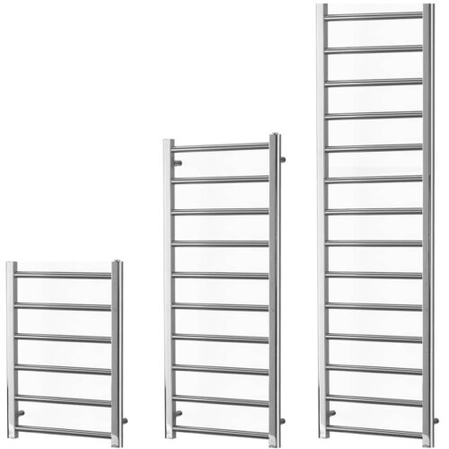 ALPINE Modern Heated Towel Rail / Warmer / Radiator, Chrome - Central Heating