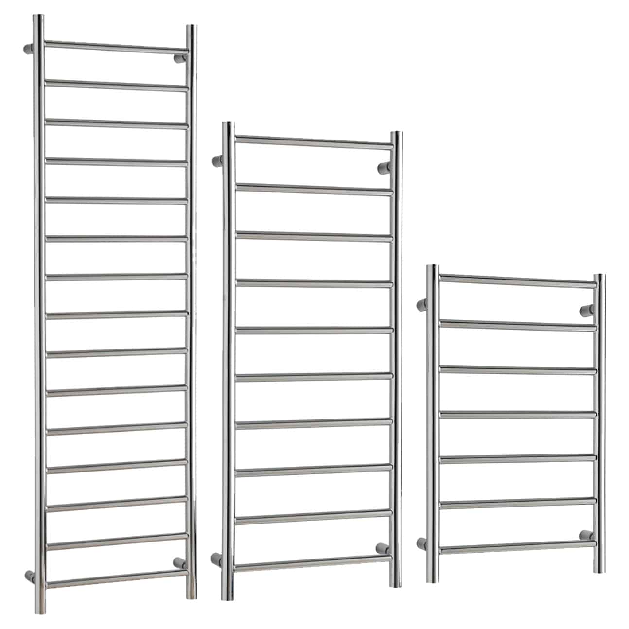 ALPINE Modern Heated Towel Rail / Warmer / Radiator, Chrome – Central Heating