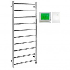 The Alpine Heated Towel Rail Electric Ptc With Wireless Timer