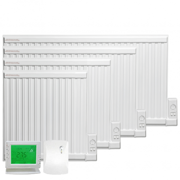 APO eco Oil-Filled Electric Radiator / Radiant Wall Heater + Wireless Timer, Thermostat