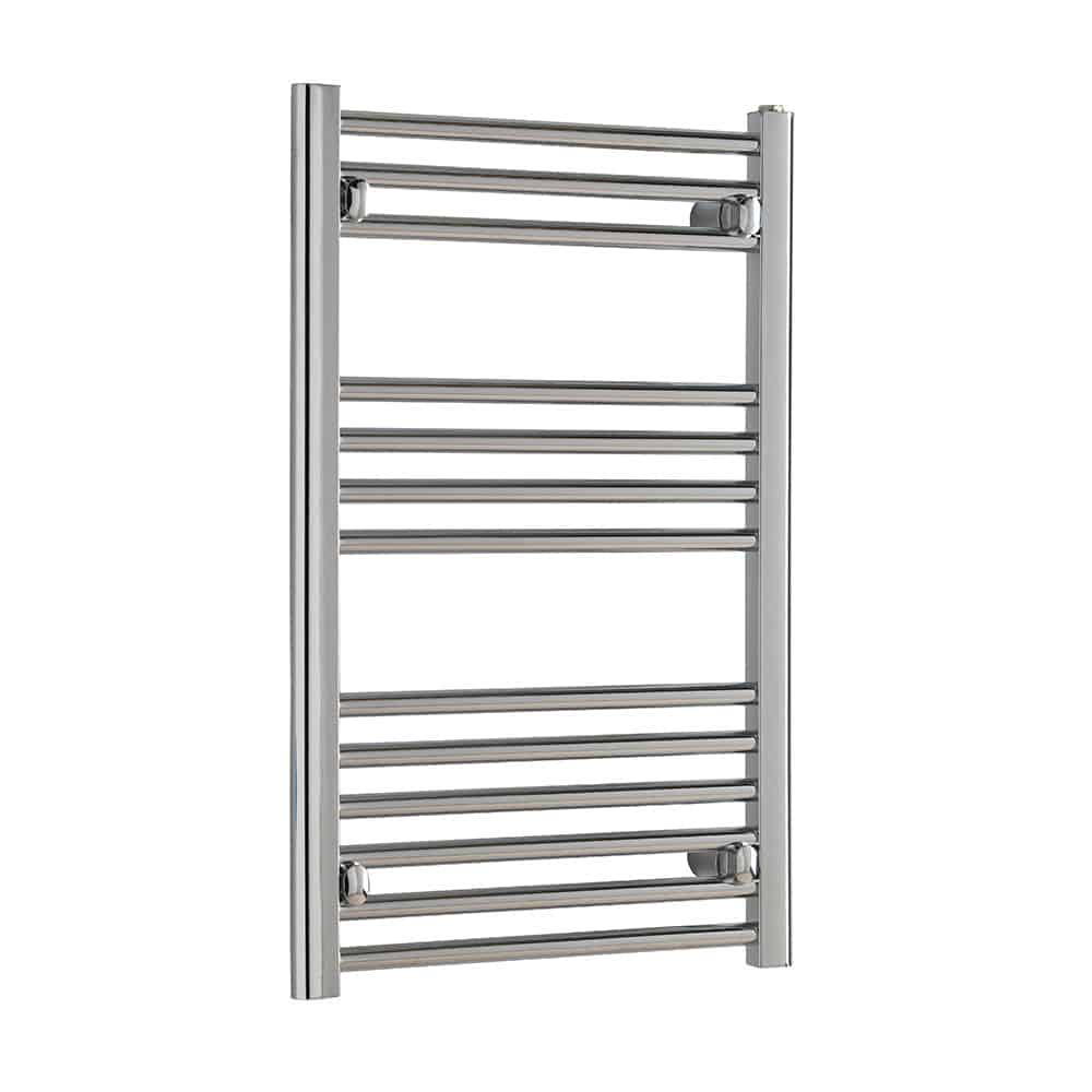 S Shape Concealed Exposed Wiring Heated Towel Rail: TRADESMAN Straight Chrome Heated Towel Rail / Warmer