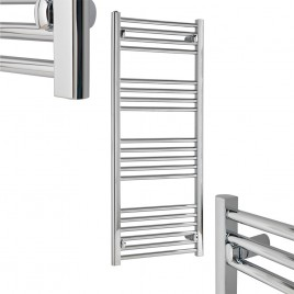 Straight Chrome Towel Rail Central Heating Tradesmans
