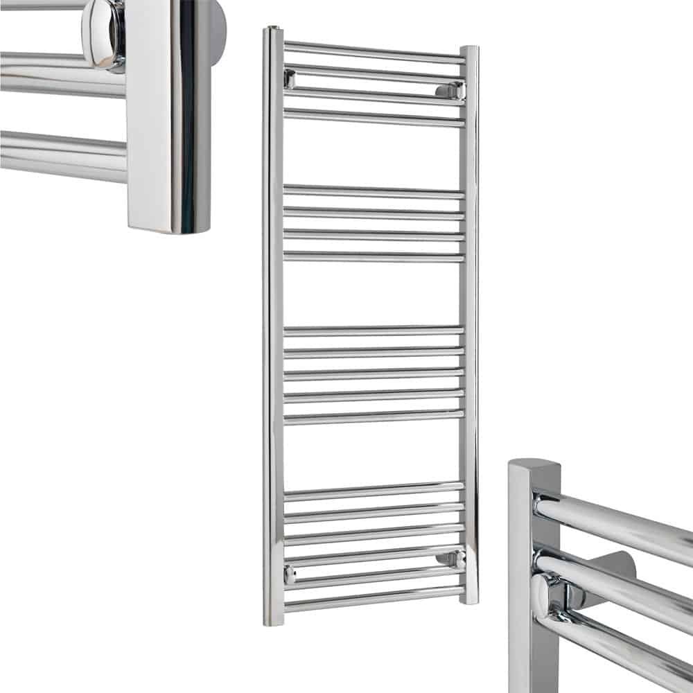 TRADESMAN Straight Chrome Budget Heated Towel Rail / Warmer / Radiator, Chrome - CENTRAL HEATING