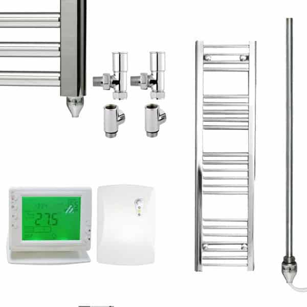Heated Towel Rail Timer Wiring Diagram: Straight Chrome Heated Towel Rail Dual Fuel Electric PTC