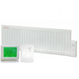 Adax Oil Filled Low Profile Skirting Electric Radiator With Wireless Timer