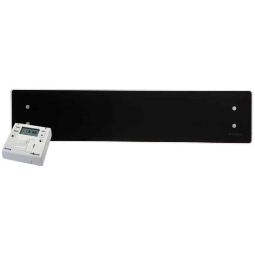 ADAX CLEA Low Profile Skirting Glass Panel Electric Convection Heater with Fused Spur Timer 1