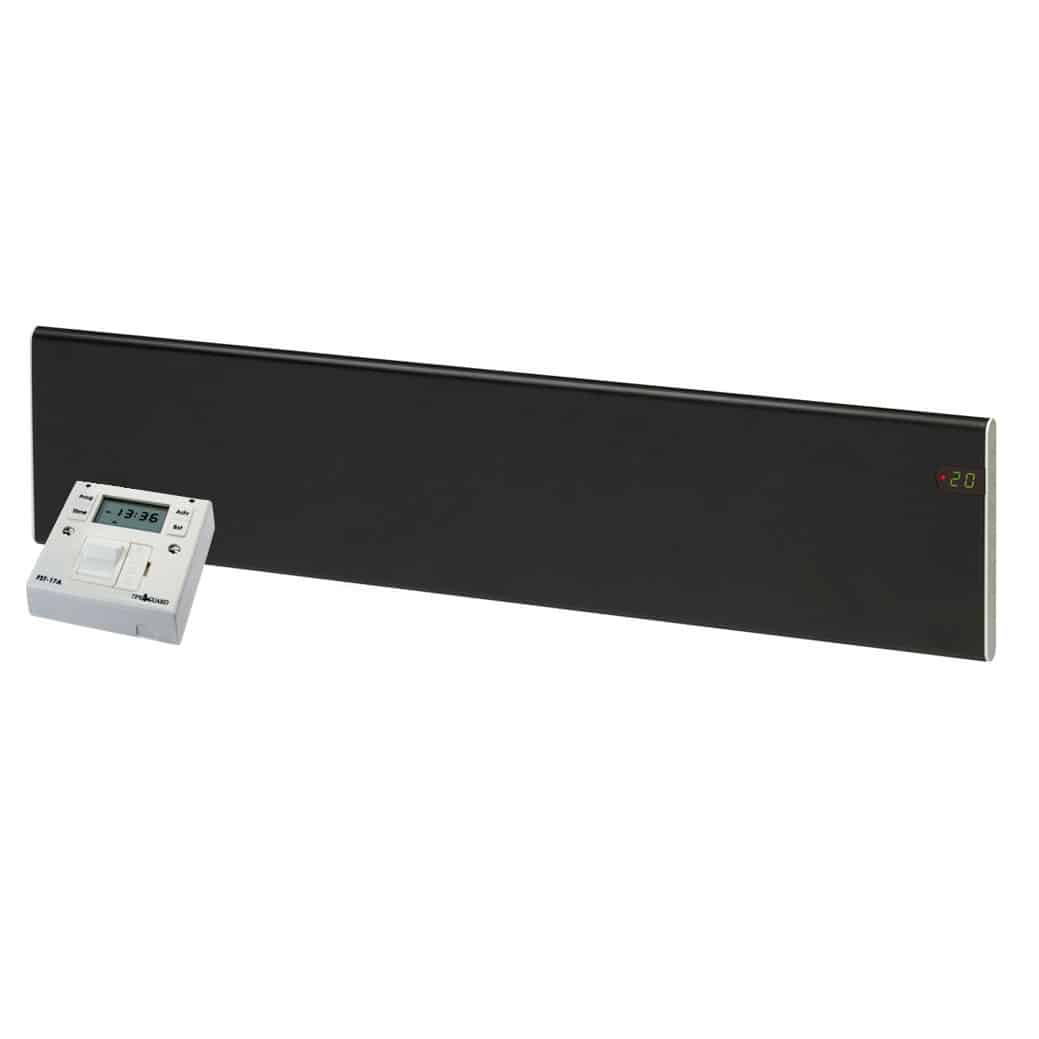 ADAX Neo Low Profile Skirting Electric Convection Panel Heater with Fused Spur Timer 1