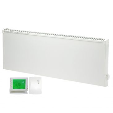 ADAX VPSL Low Surface Temperature Electric Panel Heater / Convector Radiator, Wall Mounted + Wireless Timer, Thermostat