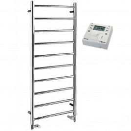 The Alpine Heated Towel Rail Dual Fuel Electric Ptc With Fused Spur Timer