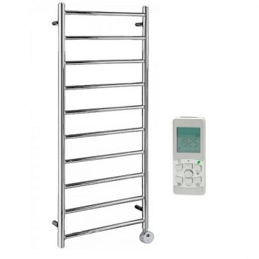 Alpine Chrome Thermostatic Remote Controlled Electric Ladder Towel Rail 1