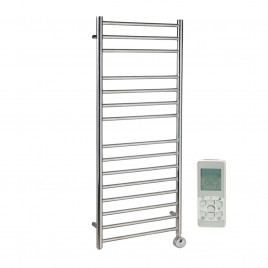 Braddan Stainless Steel Thermostatic Remote Control Electric Heating Element Ladder Towel Rail 1