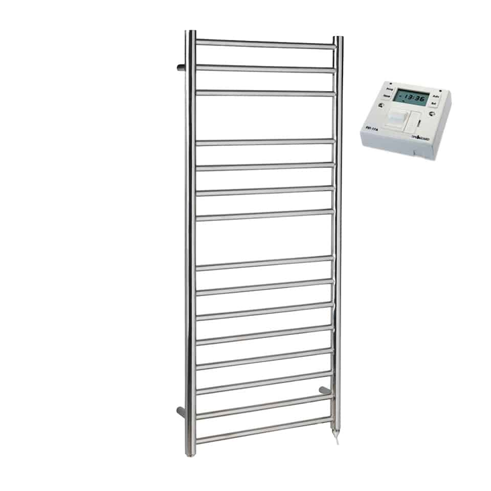 Heated Towel Rail Timer Wiring Diagram: BRADDAN Stainless Steel Modern Heated Towel Rail Warmer