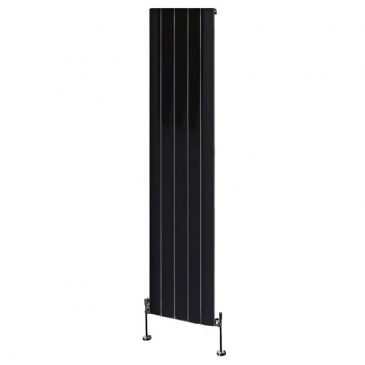 Brandish Aluminium Vertical Decorative Radiator Black 1