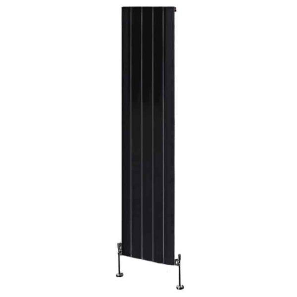 Brandish Aluminium Vertical Decorative Radiator Black 1