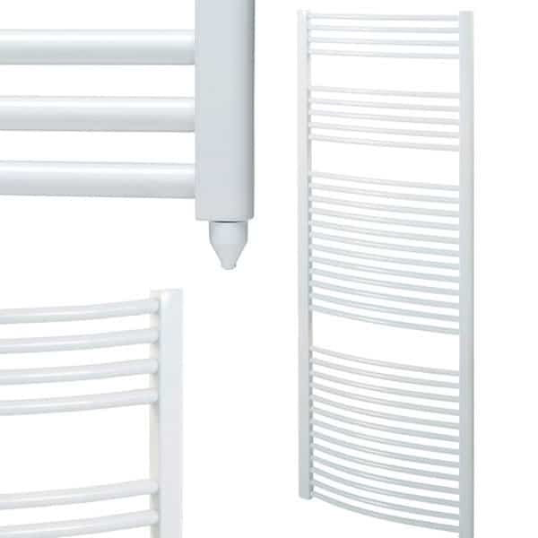 Bray Curved White Electric PTC Towel Rails 1