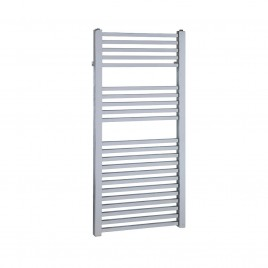 Chrome Central Heating Towel Rail - The Laurel Square Tube