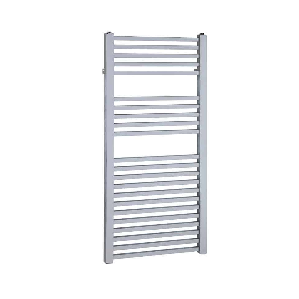 Chrome Central Heating Towel Rail – The Laurel Square Tube 1