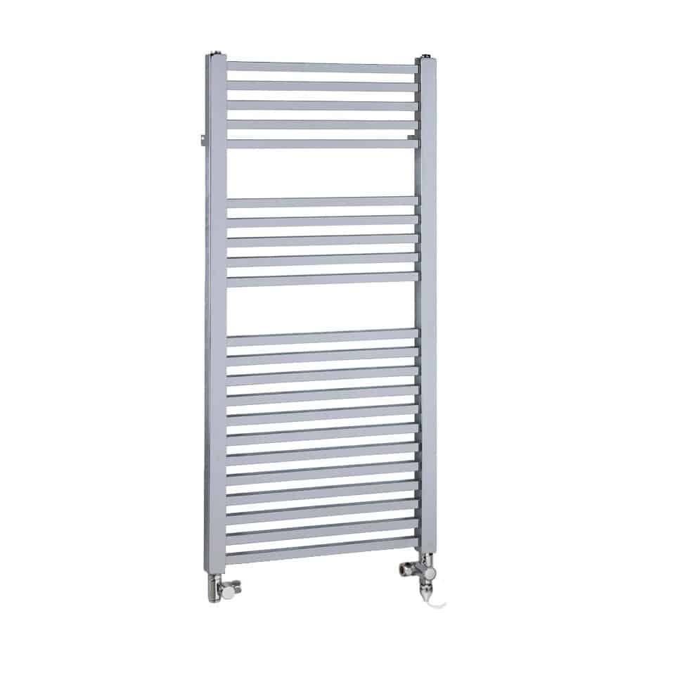 Chrome Dual Fuel Towel Rail Electric PTC Heating Element – The Laurel Square Tube 1