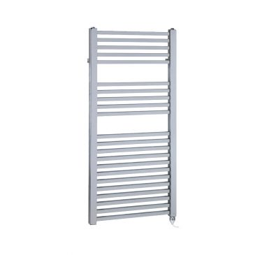 Chrome Electric Towel Rail PTC Heating Element – The Laurel Square Tube 1