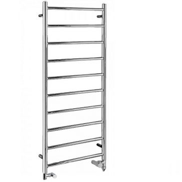 Chrome Heated Ladder Towel Rail – Dual Fuel PTC Electric – The Alpine 1