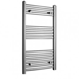 Crosby Curved Chrome Central Heating Towel Rail