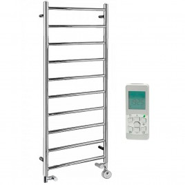 The Alpine Heated Towel Rail Dual Fuel Thermostatic Electric