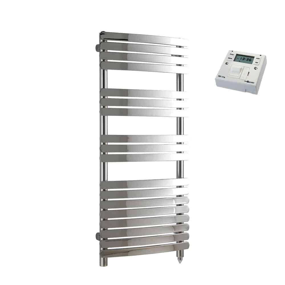 Heated Towel Rail Timer Wiring Diagram: GREEBA Flat Tube Heated Towel Rail / Warmer, Chrome