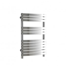 Greeba Flat Bar Chrome Curved Central Heating Towel Rail