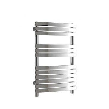 Greeba Flat Bar Chrome Curved Central Heating Towel Rail 1